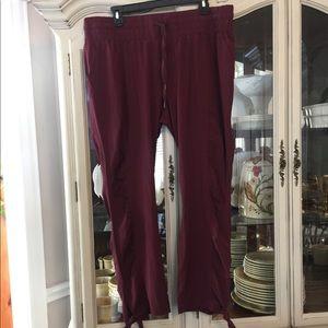 NWOT PrAna Bindu Pants Black Cherry XL